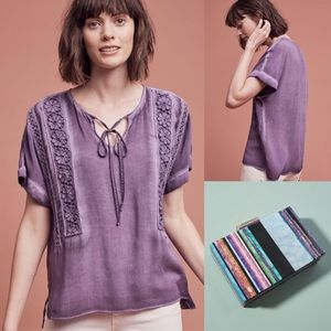 Anthropologie laced Henley tee by Floreat